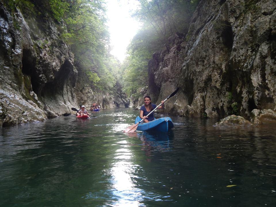 In canoa sul fiume Calore