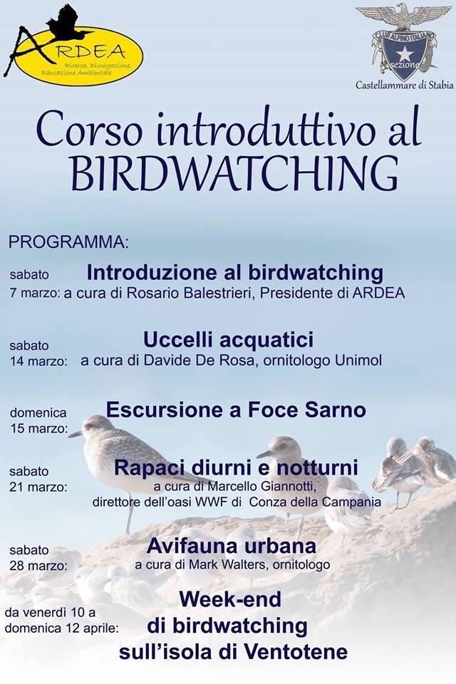 Locandina Corso Introduttivo Birdwatching